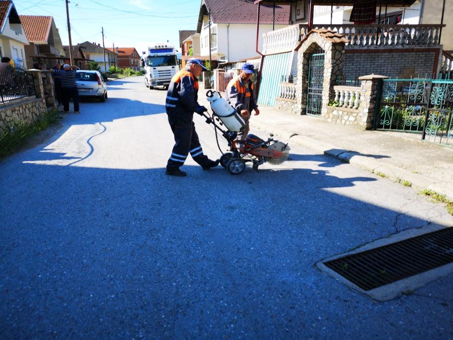 Решен проблемот со атмосферските води на улица Индустриска