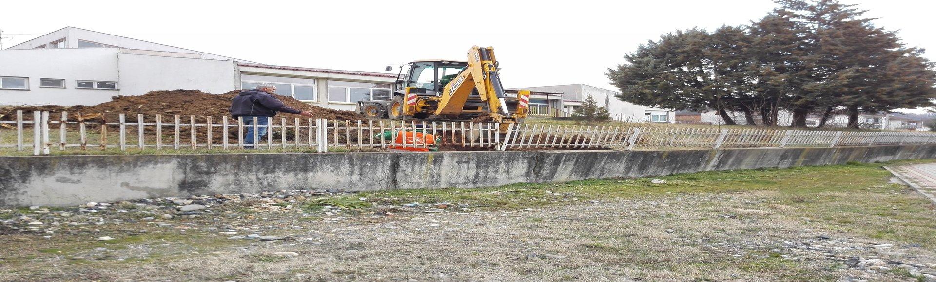 """Санација на ѕидот ограда кај детската градинка """"Бамби"""""""