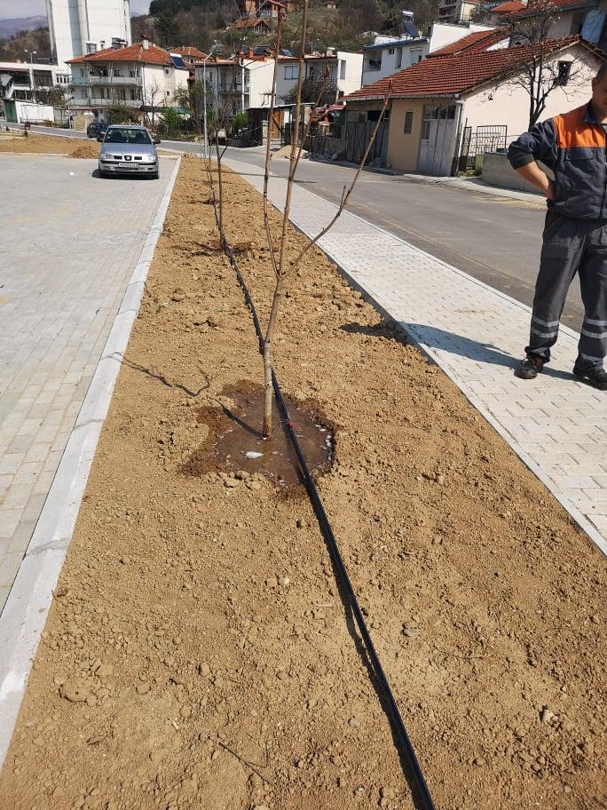 """Започна инсталирањето на системот """"Капка по капка"""" за наводнување на зелените површини во Македонска Каменица"""