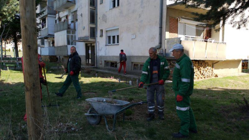 Се спроведува засилена акција за чистење на отпадоци од јавните и зелени површини во Македонска Каменица